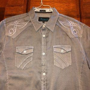 Roar gray shirt embroidered XL